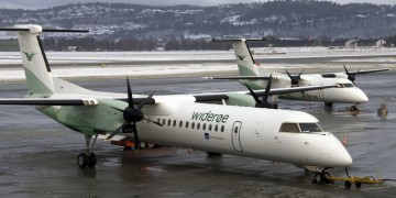 Widerøe_Dash_8-100_and_Q400_at_Værnes