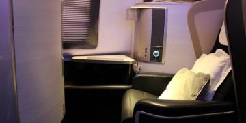 British Airways First Class seat