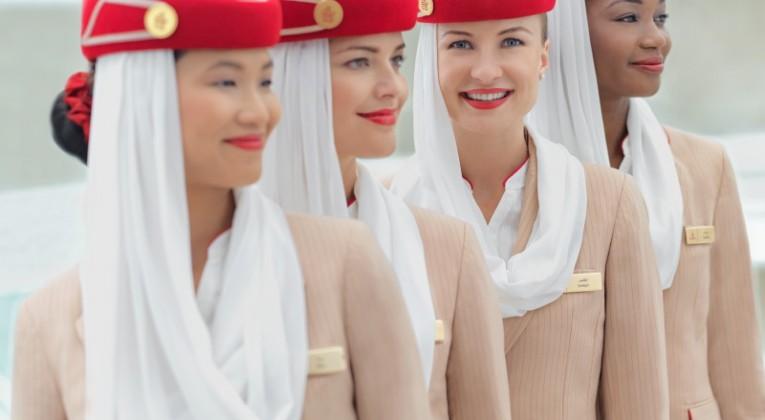 Emirates Cabin Crew line