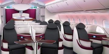 Qatar Airways Business Class Boeing 787 Dreamliner