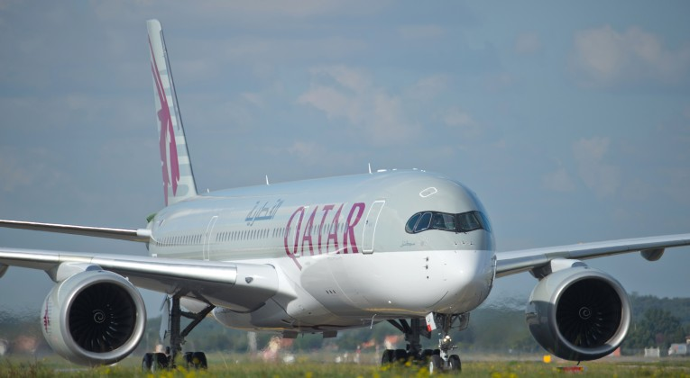 Qatar Airways Airbus A350XWB front