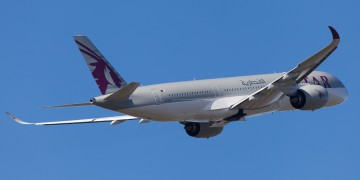 Qatar Airways Airbus A350XWB rear
