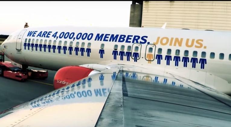 SAS EuroBonus-dekor fly