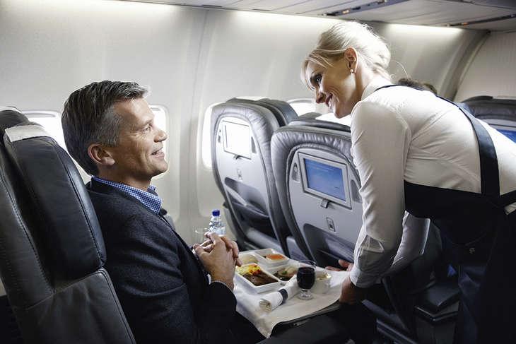 Saga Class ombord på Icelandair