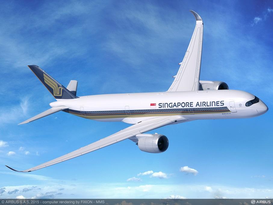 Bilde: Airbus. Singapore Airlines sin fremtidige Airbus A350-900
