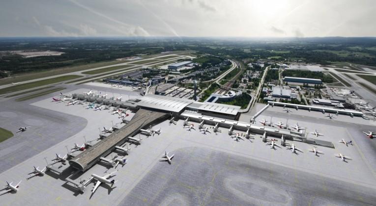 Oslo Lufthavn 2017 - visualisering_luftperspektiv_dag