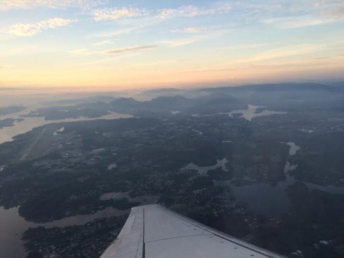 Utsikt under avgang fra Flesland,