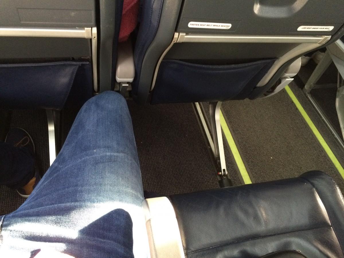 Ledig sete ved siden av er fint.