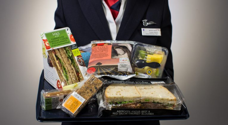 LONDON, UK:  British Airways and Marks & Spencer partner to provide Food on the Move for short-haul fliers (Photo by: Nick Morrish/British Airways)