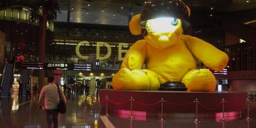 Hamad Airport - Doha - Teddy Bear lampe