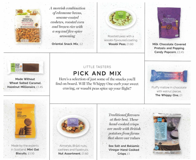 Pick and Mix Catering (C) British Airways