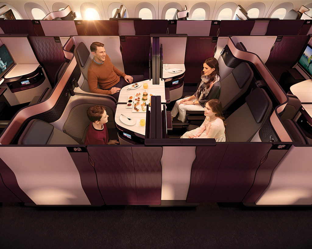 QSuite Business Class for grupper på fire