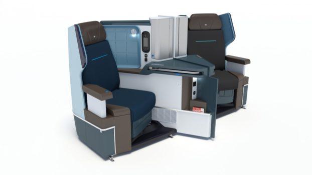 KLM 787 Dreamliner business class