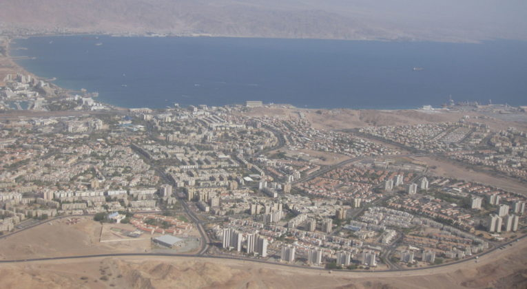 Eilat, Israel sett fra luften. Foto: Wikipedia / deror_avi CC3.0.