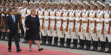Erna Solberg besøker Kinas Statsmininister i Beijing 7. april 2017. Foto: Trond Viken/NFD.