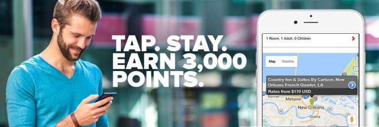 Få 3000 ekstra Gold Points hvis du booker ditt neste opphold med Club Carlson-appen