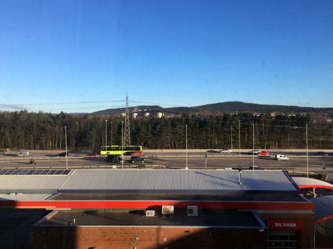 Utsikt fra hotellrommet