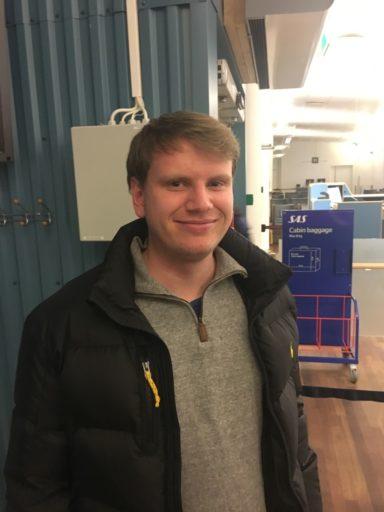 Fredrik Norbo fløy 800 turer på et halvår med SAS i 2016. Foto: Eddie47.