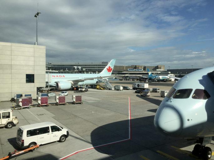 Air Canada Premium Economy utsikt fra gate
