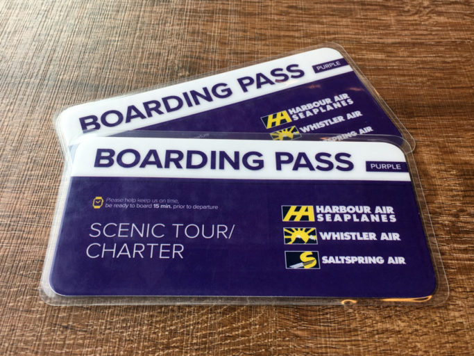 Harbour Air Seaplanes Boarding Pass