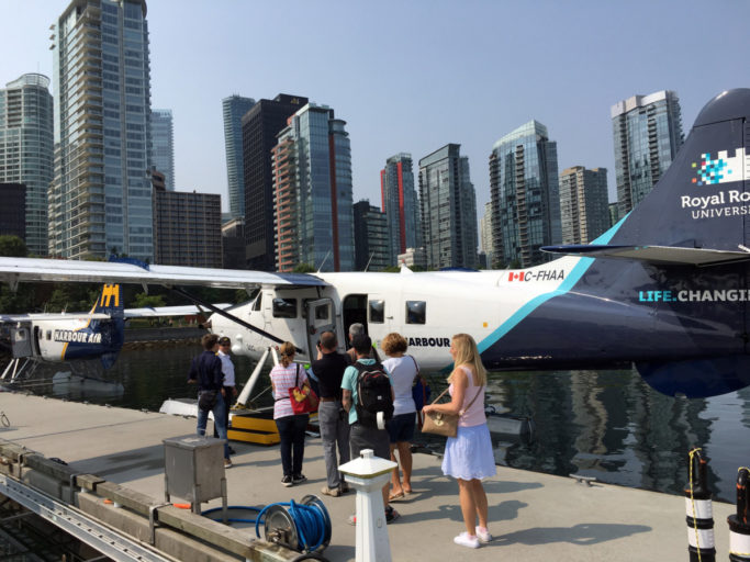 Harbour Air Seaplanes boarding