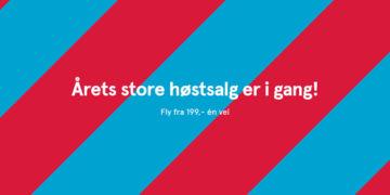 Nå har Norwegians høstsalg startet!