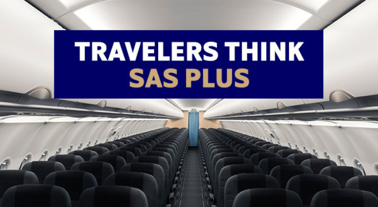 Fly SAS Plus for bare 200 kr ekstra