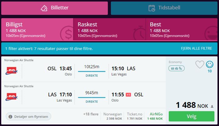 Las Vegas med Norwegian