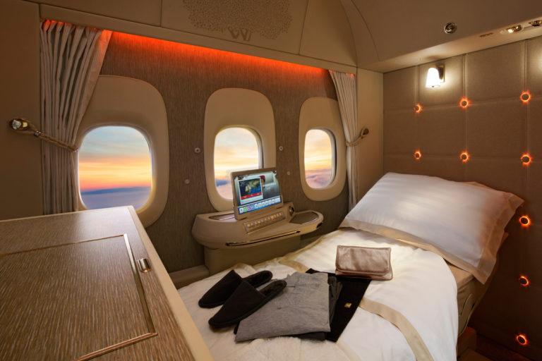Emirates First Class Fullt Flat Bed