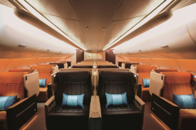 Singapore Airlines Airbus A380 businessklasse