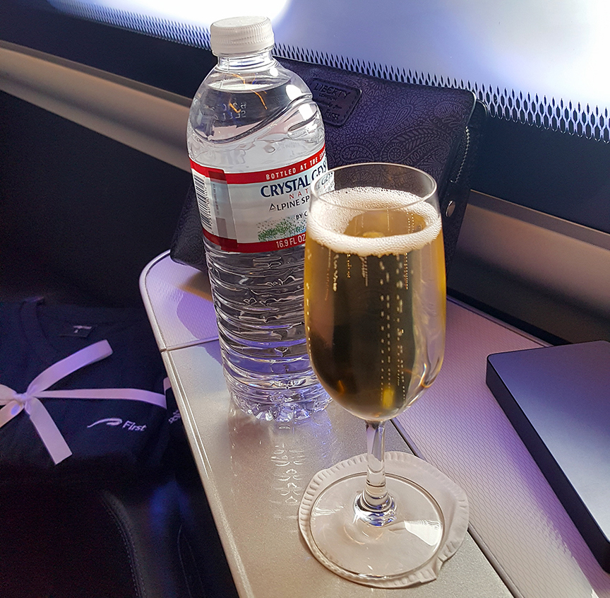 British Airways First Class Champagne