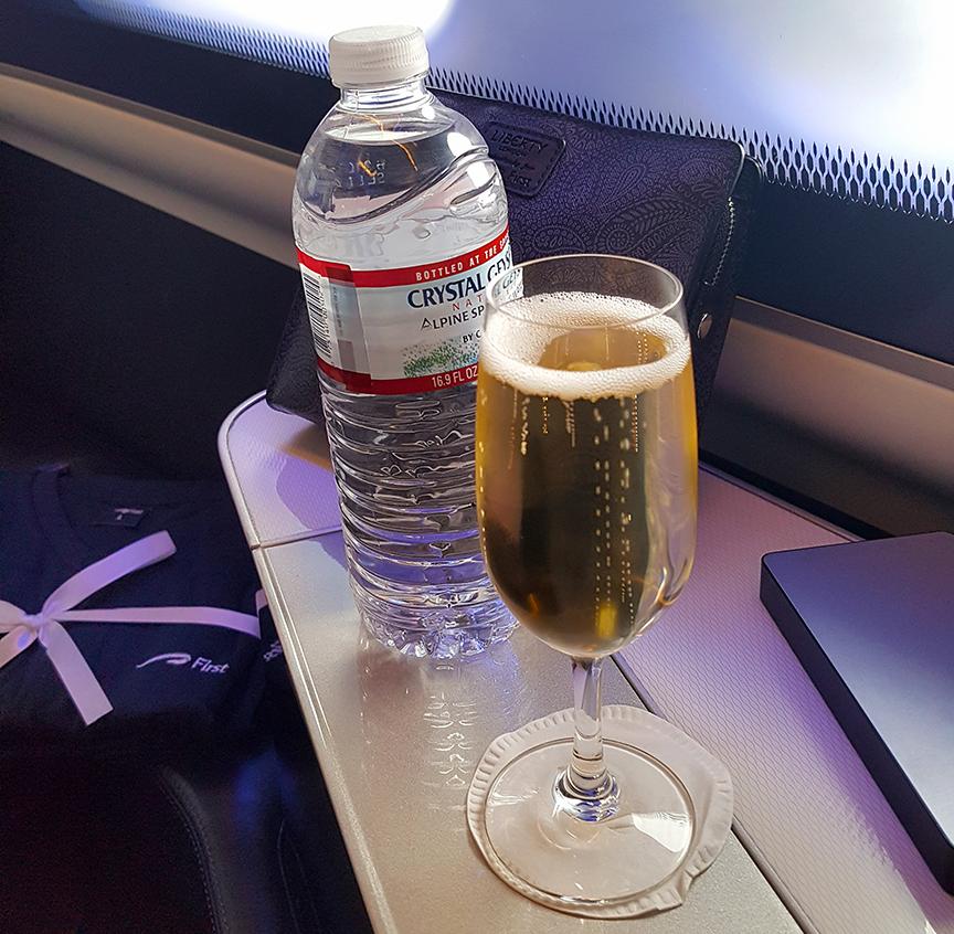 British Airways First Class Champagne