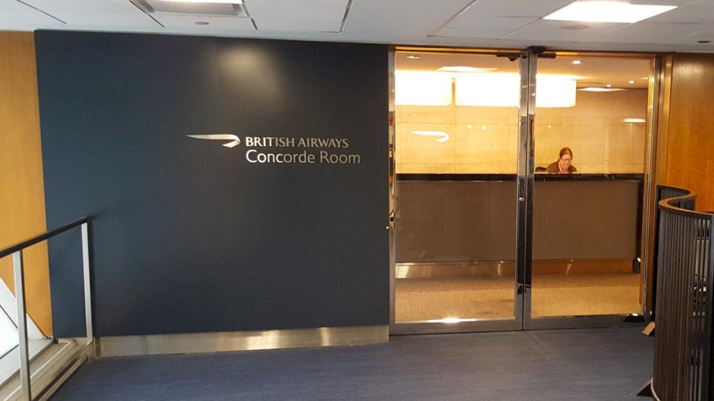 Inngangen til Concorde Room JFK terminal 7
