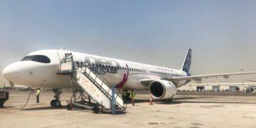 Airbus A321LR på Seychellene