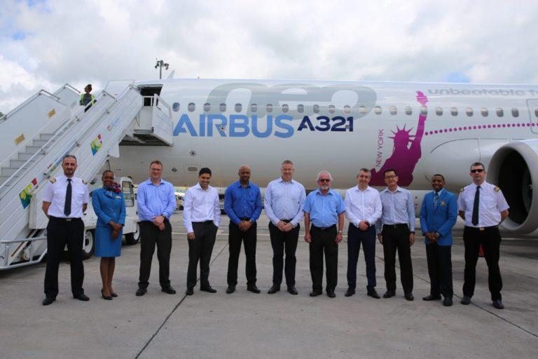 Airbus A321LR med crew