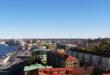 Utsikt over Gøteborg fra tårnet ved Sjøfartsmuseet