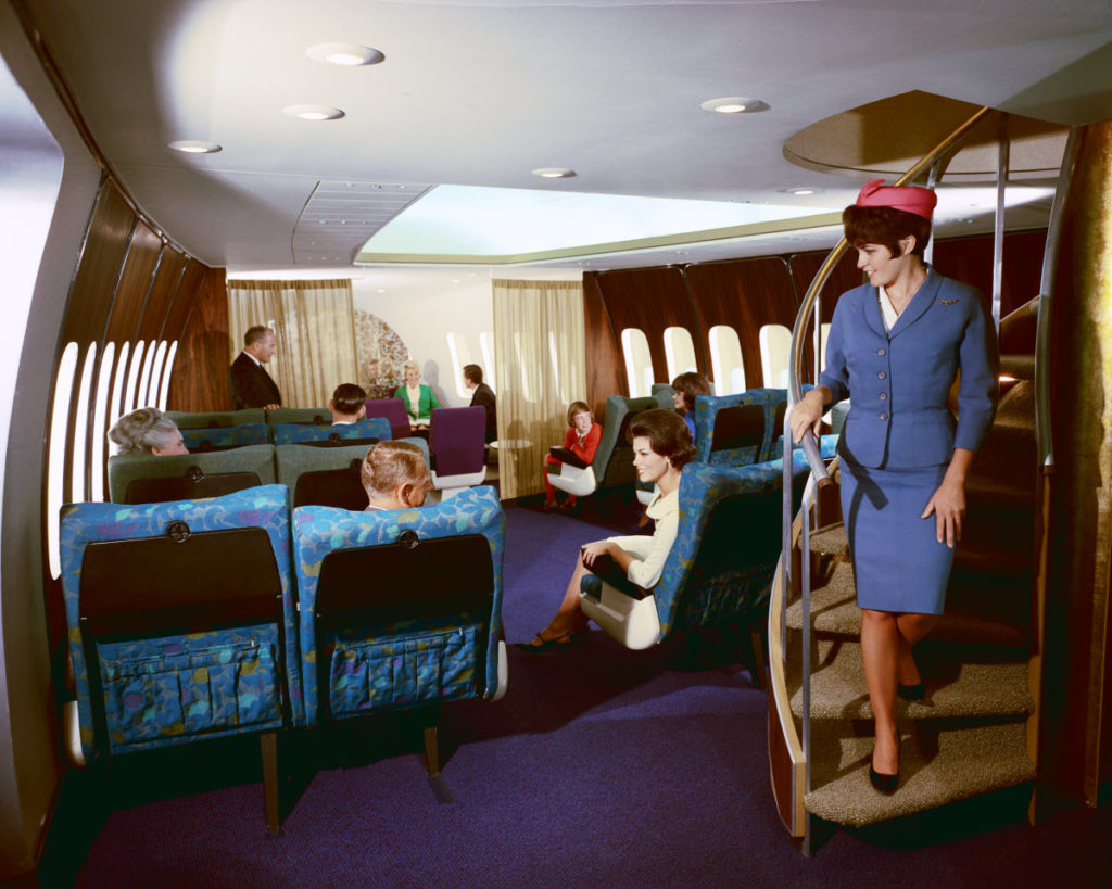 Boeing 747 interiør