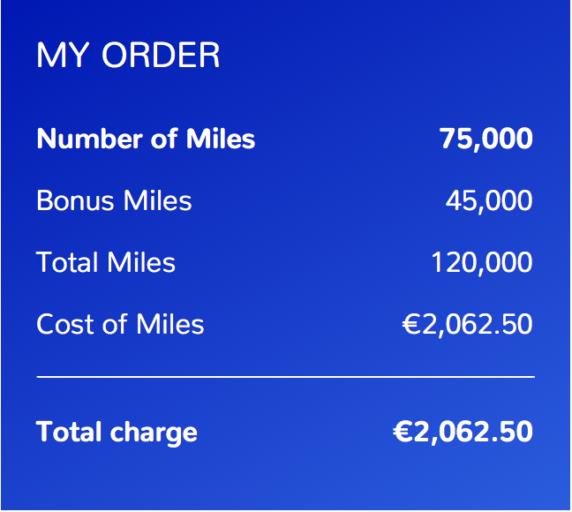 Flying Blue-miles ordresammendrag