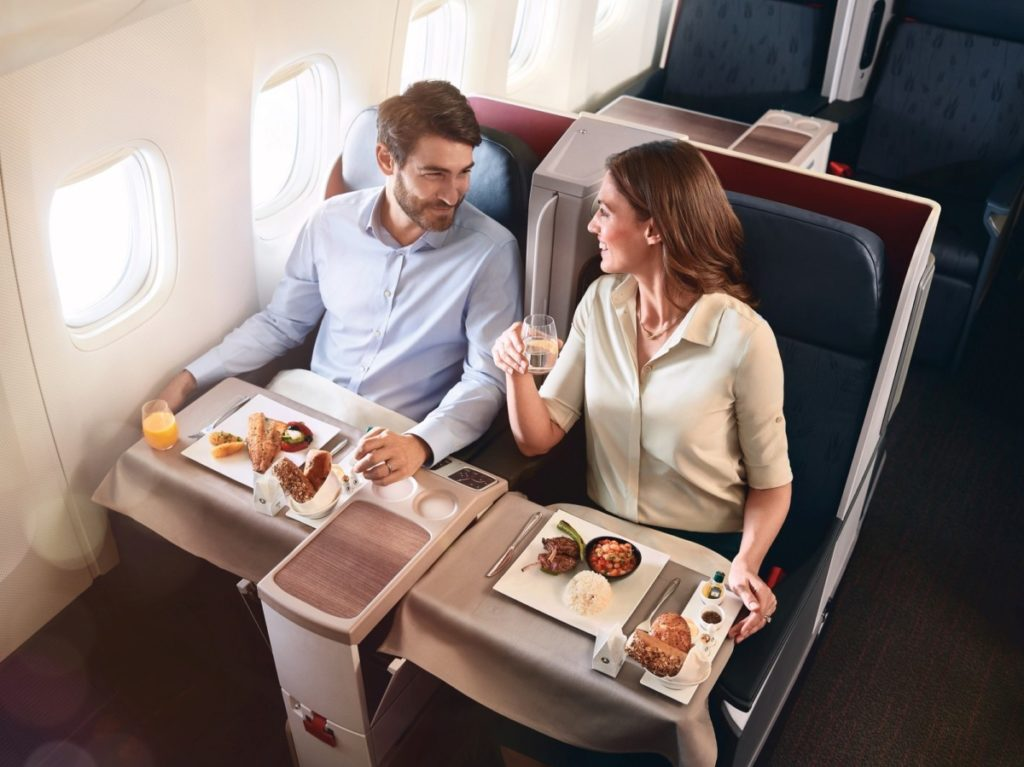 Turkish Airlines Business Class matservering