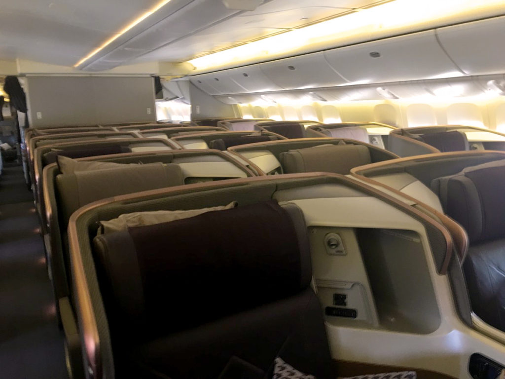 Singapore Airlines Business Class kabin