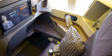 Singapore Airlines Business Class sete