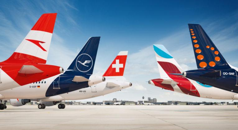 Lufthansa-gruppen, Austrian Airlines, Lufthansa, SWISS, Eurowings, Brussels Airlines