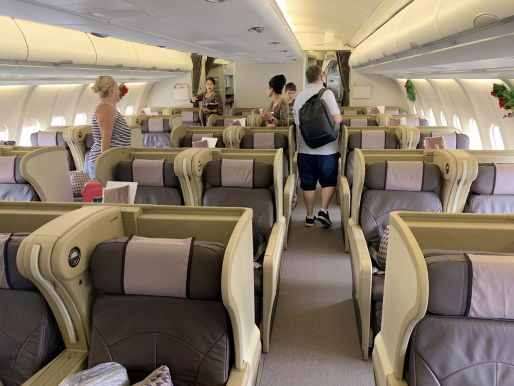 Singapore Airlines Airbus A330 Business Class-kabin