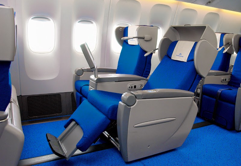 KLM's old business class seats