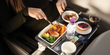 Ny meny i British Airways World Traveller Plus