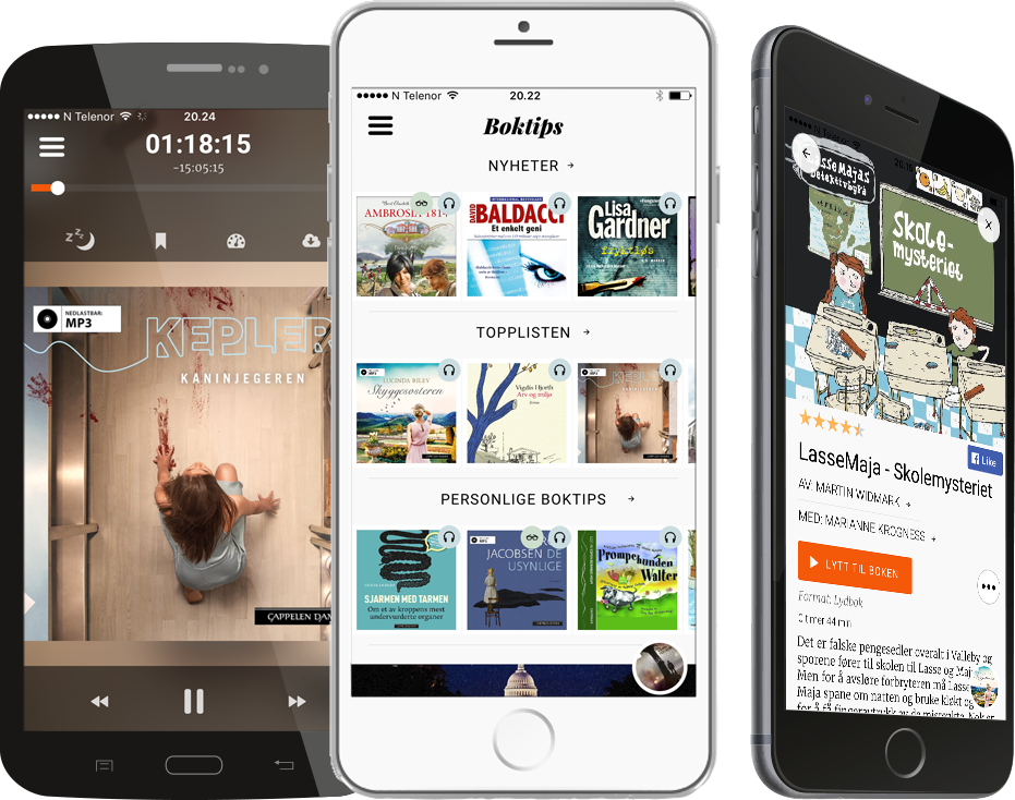 Storytel app for Android og iPhone