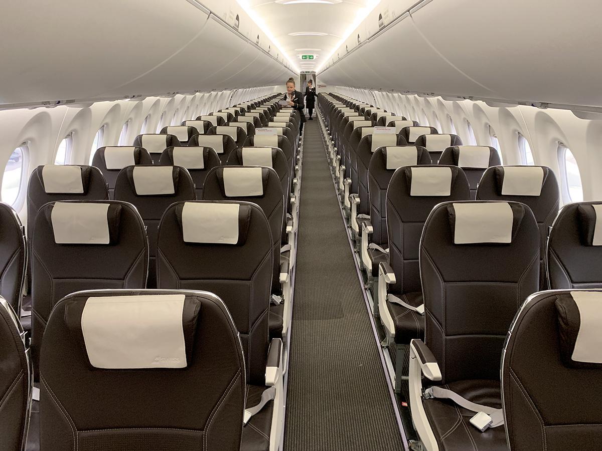 SWISS Business Class Airbus A220