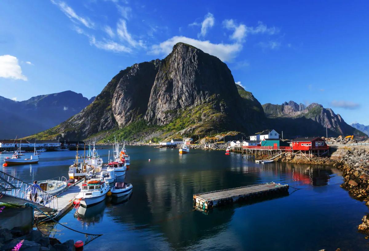 Utsikt fra Scandic Vestfjord Lofoten