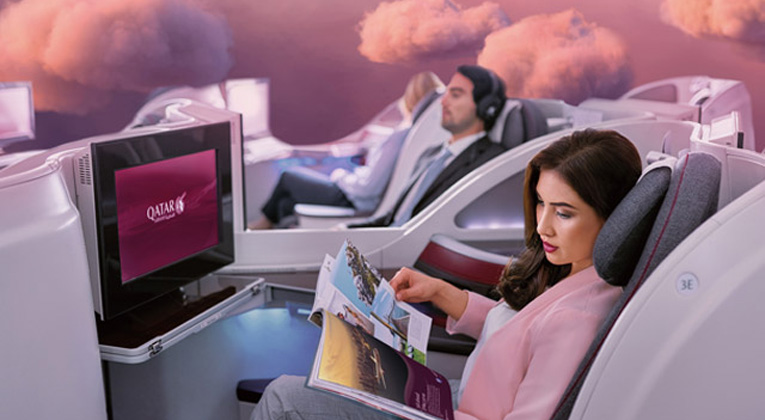Qatar Airways business class-kampanje til Asia
