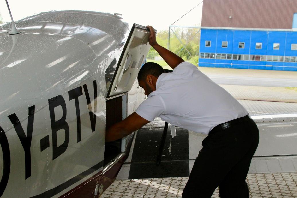 Daniel Juul Kyei-Ofori på Centerair flyskole